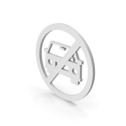 Symbol No Car White