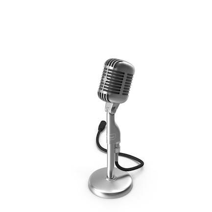 Micrófono retro vintage