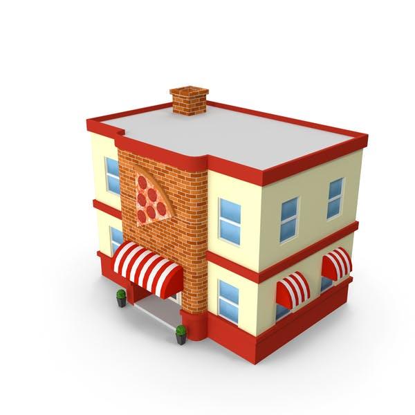 Cartoon Pizza Shop