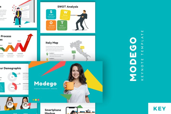 Thumbnail for Modego - Creative Keynote Template