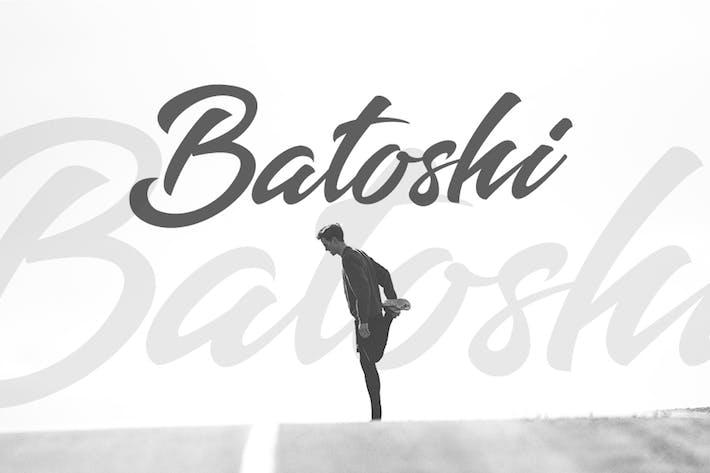 Thumbnail for Batoshi - Fuente moderna de letras a mano