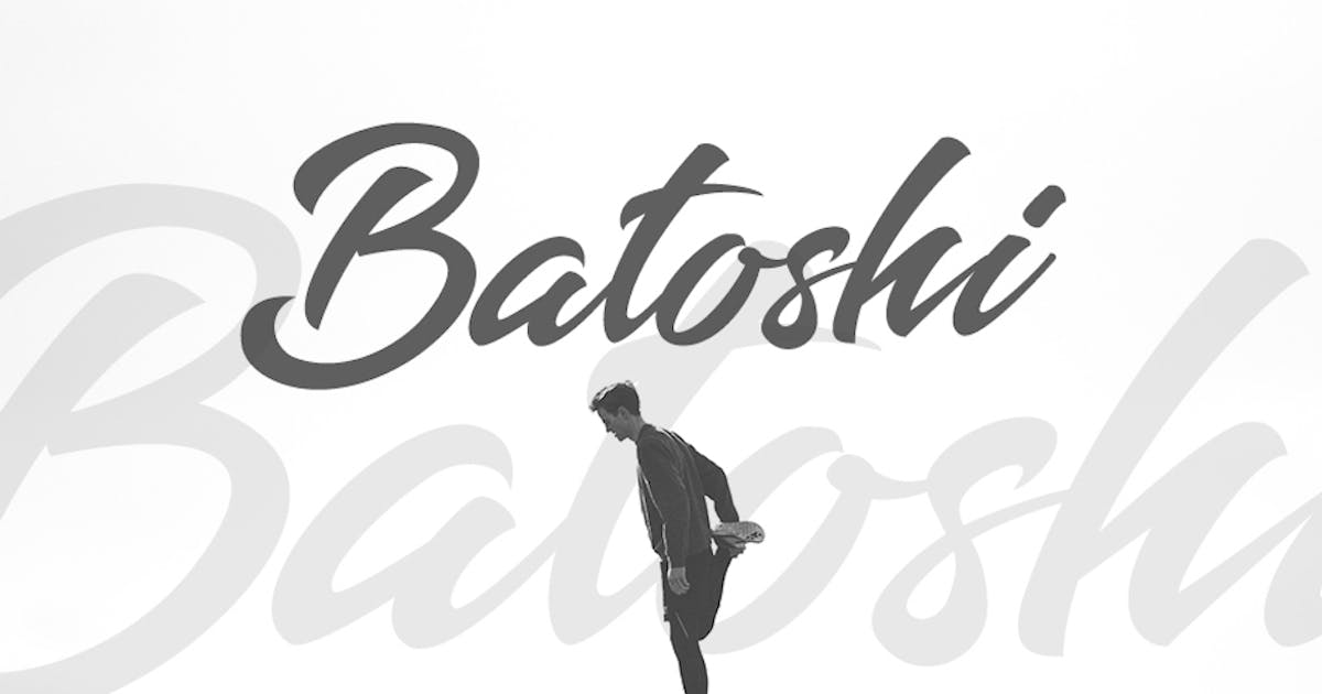 Download Batoshi - Modern Hand Lettering Font by puricreative