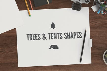 Trees & Tents Shapes