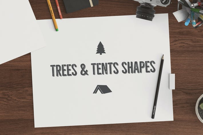 Thumbnail for Trees & Tents Shapes