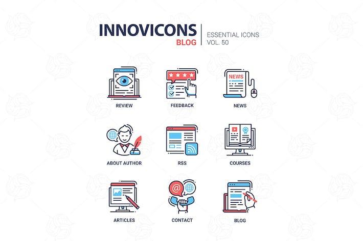 Thumbnail for Blog - modern vector line design icons set