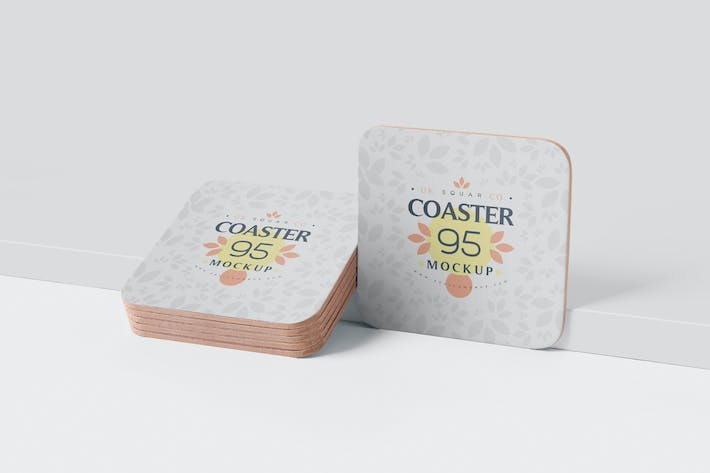 Thumbnail for Square Coaster Mock-Up with Round Corner