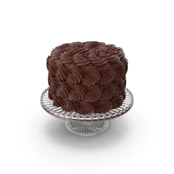 Thumbnail for Rose Swirl Chocolate Cake