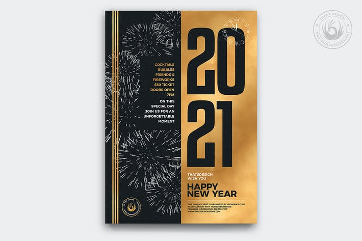 Thumbnail for New Year Flyer Template V9
