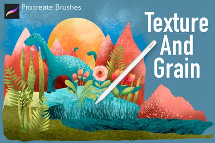Texture and Grain Procreate Brushes