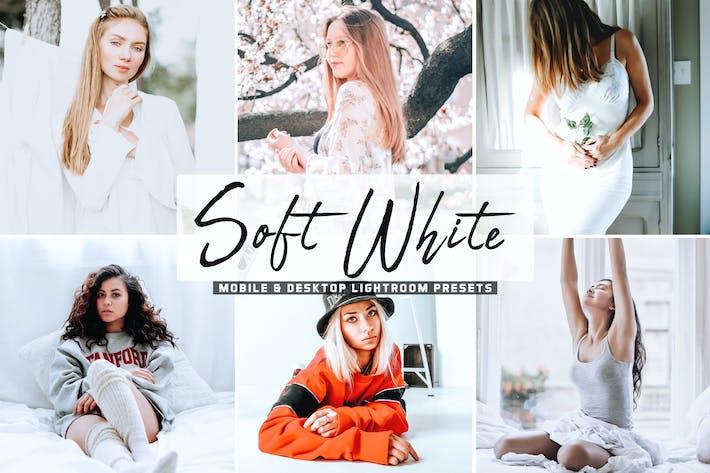 Thumbnail for Soft White Mobile & Desktop Lightroom Presets