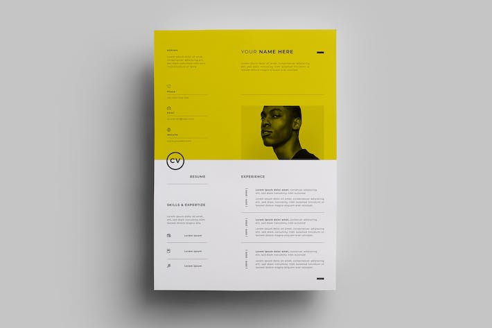 Thumbnail for Resume Design Templates.13