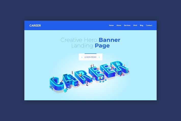 Thumbnail for Career - Hero Banner Template