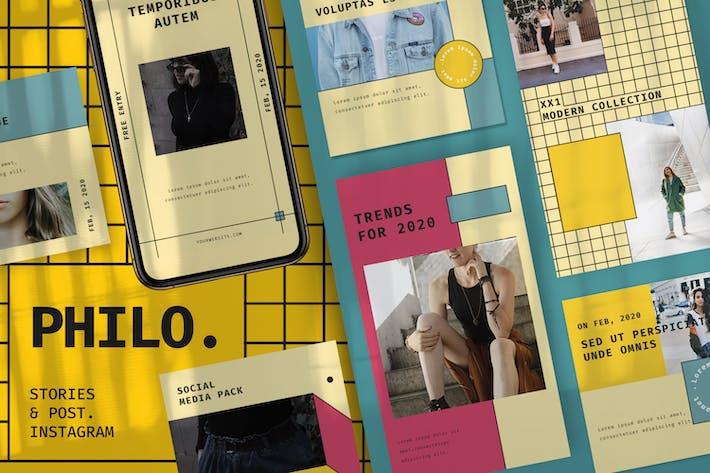 Thumbnail for Modèle de médias sociaux Philo + Histoires