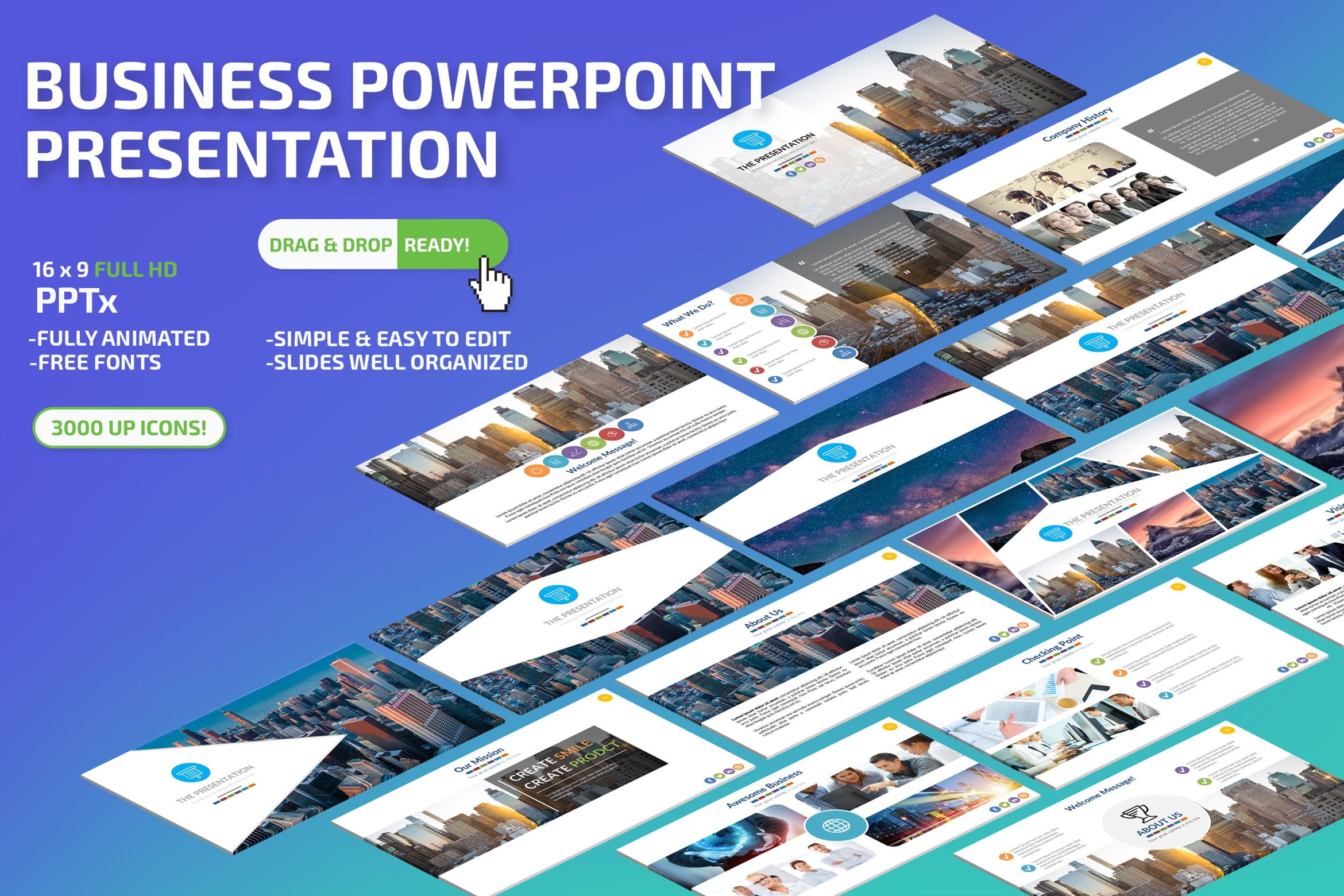 Business Powerpoint Presentation by -BeCreative- on Envato