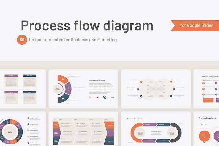 Thumbnail for Process flow diagram for Google Slides