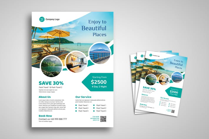 Thumbnail for Travel and Vacation Promo Flyer