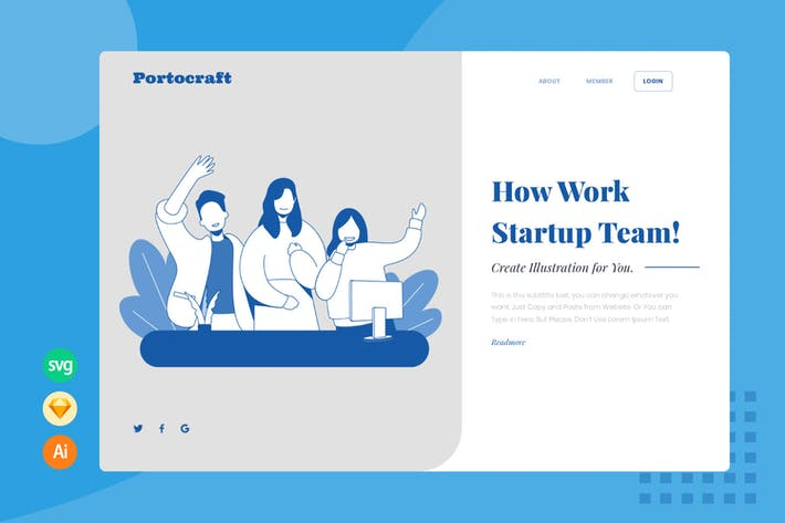 Collaboration Team - Website Header - Illustration