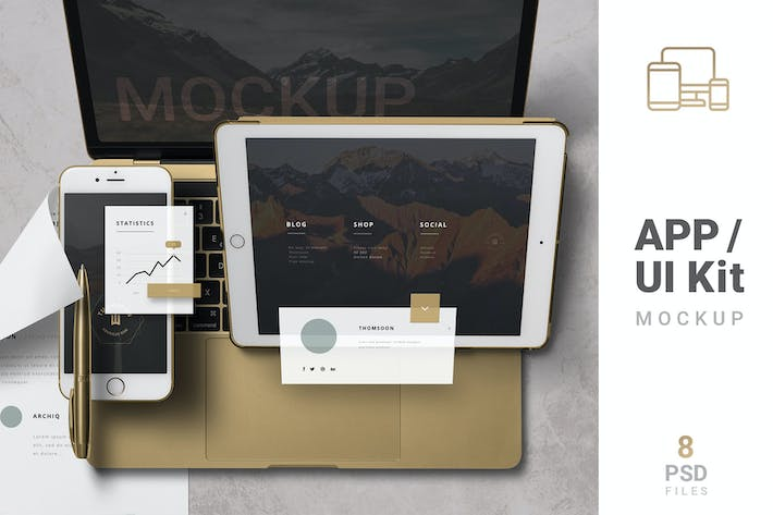 Thumbnail for App / UI Kit Mockups