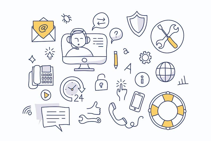 Tech Support Doodles