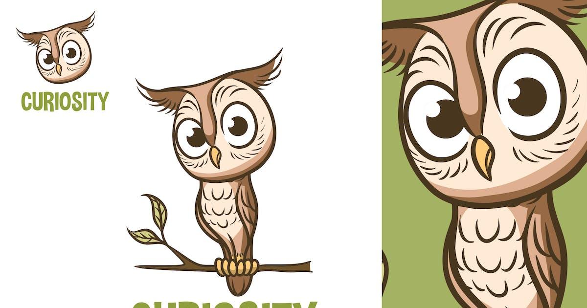 Cartoon Cute Owl Mascot Logo by Suhandi