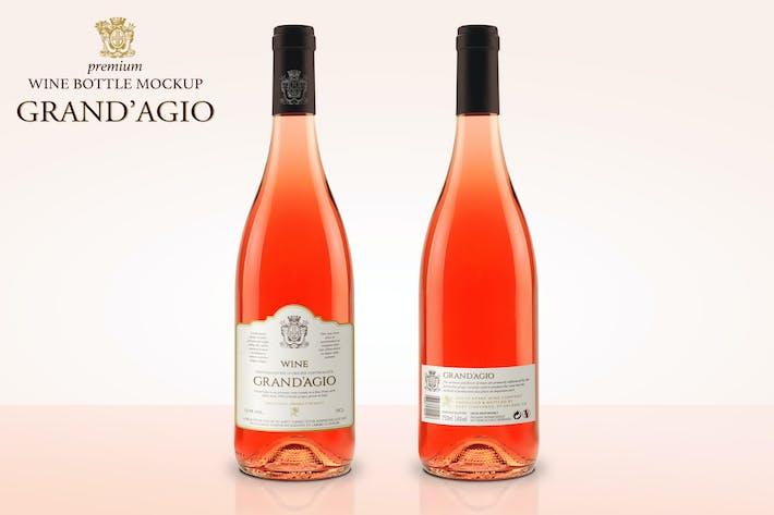 Thumbnail for Premium Rosé Wine Mockup
