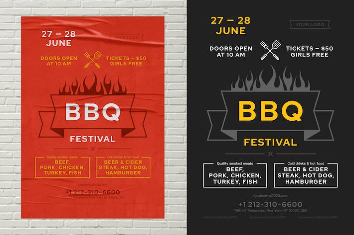 Thumbnail for Modèle d'affiche BBQ Party