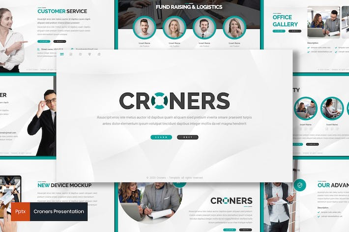 Thumbnail for Croners - Business Powerpoint Template