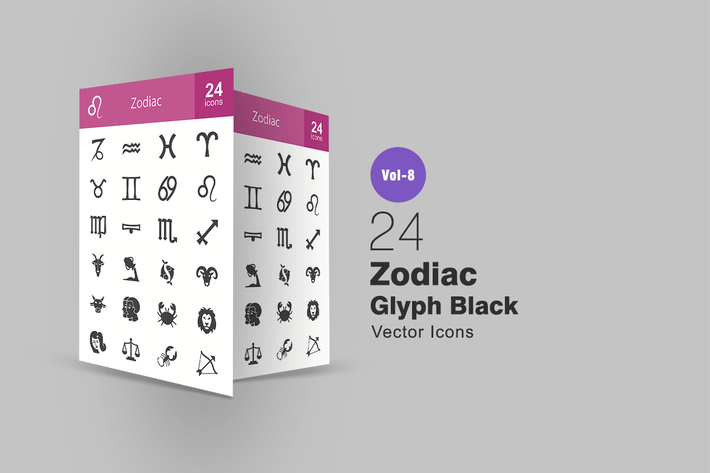 Thumbnail for 24 Zodiac Glyph Icons