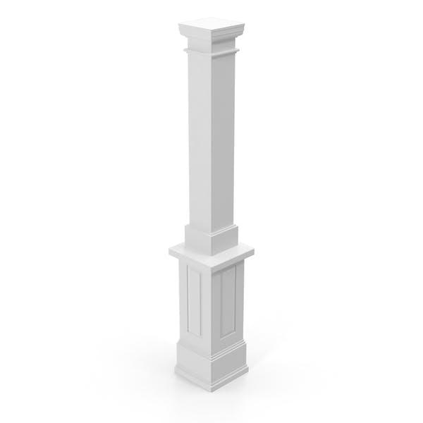 Smooth Modern Column and Capital