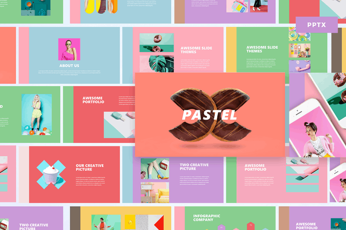 Thumbnail for Pastel - Powerpoint Template