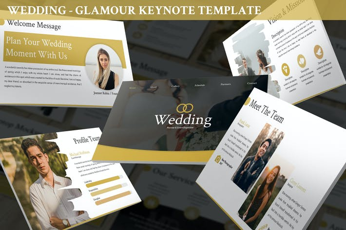 Thumbnail for Wedding - Glamour Keynote Template