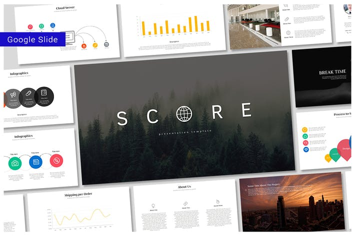 Thumbnail for Score - Google Slides Template