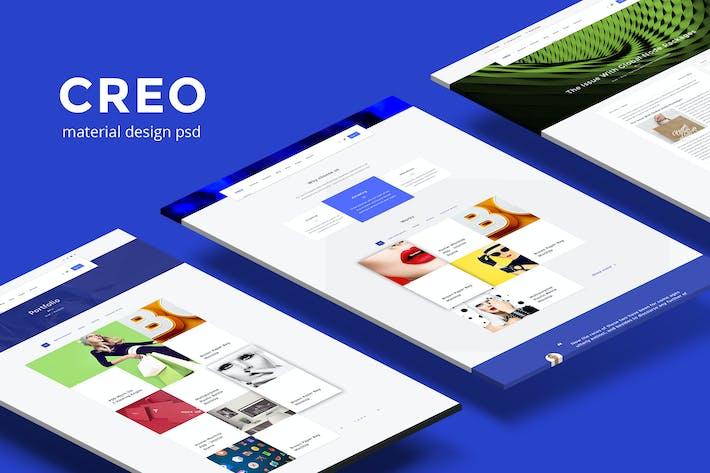 Thumbnail for Creo — Modern Design Studio/Creative Agency PSD