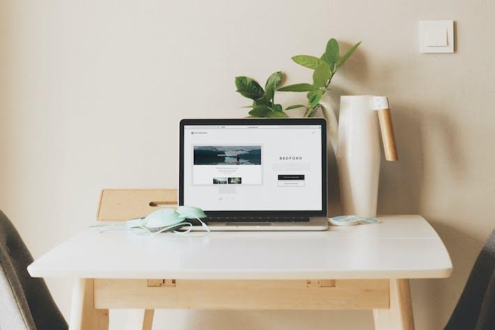 Cover Image For Macbook Laptop Display Web App Mock-Up