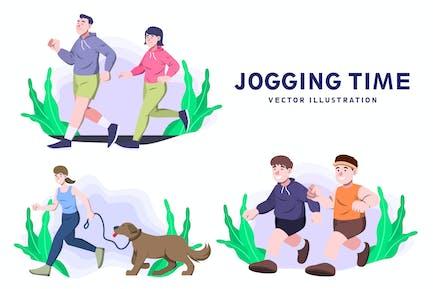 Tiempo de trotar - Ilustración de Vector de actividad