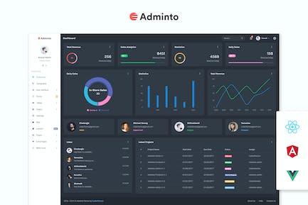 Adminto - Шаблон администратора и панели мониторинга