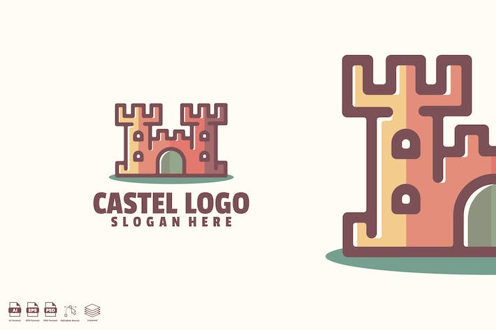 Thumbnail for castel logo template