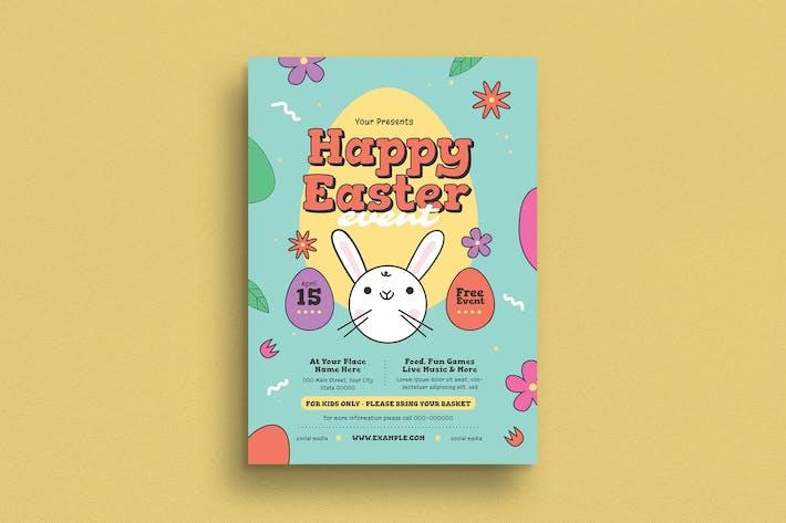 Thumbnail for dépliant d'événement de chasse aux œufs de Pâques