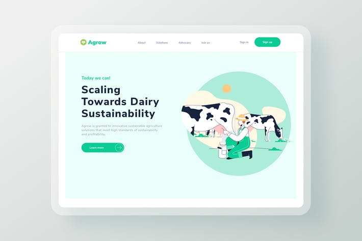 Thumbnail for Cow Farm Commodity Landing Page Header