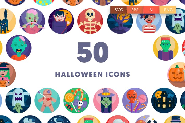 Thumbnail for 50 Halloween Icons