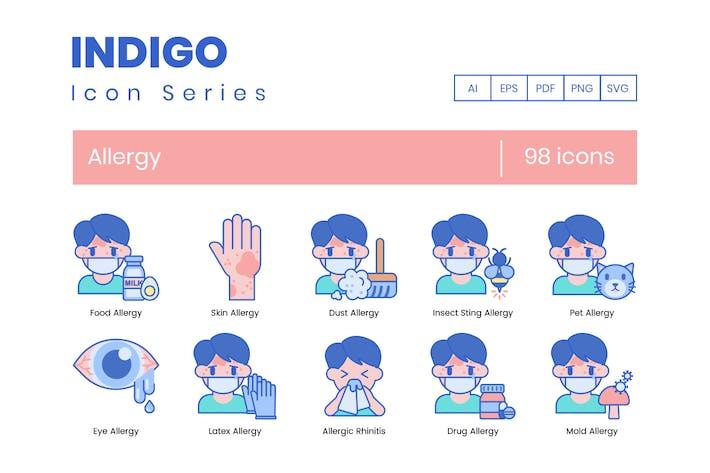 Thumbnail for 98 Аллергия Иконки | Индиго серии (гладкая)