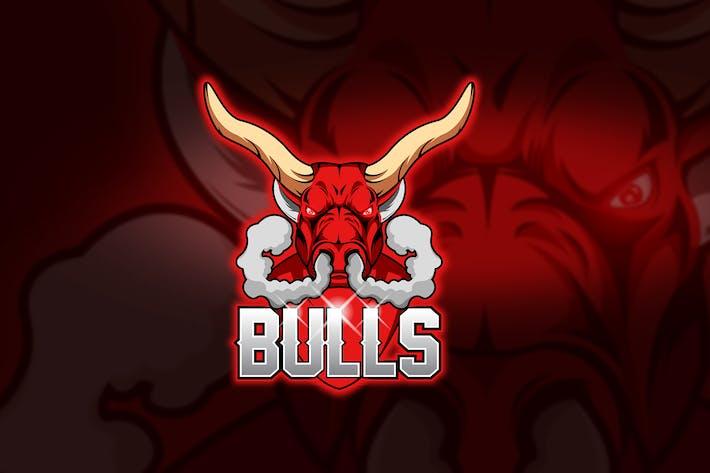 Thumbnail for Bulls Fume - Mascot & Esport Logo