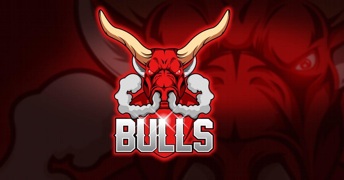 Download Bulls Fume - Mascot & Esport Logo by aqrstudio