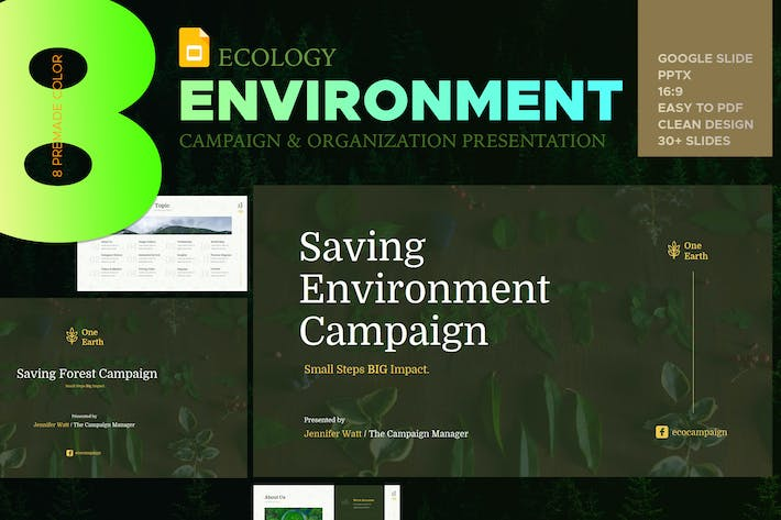 Thumbnail for Eco Environment Google Slide Presentation