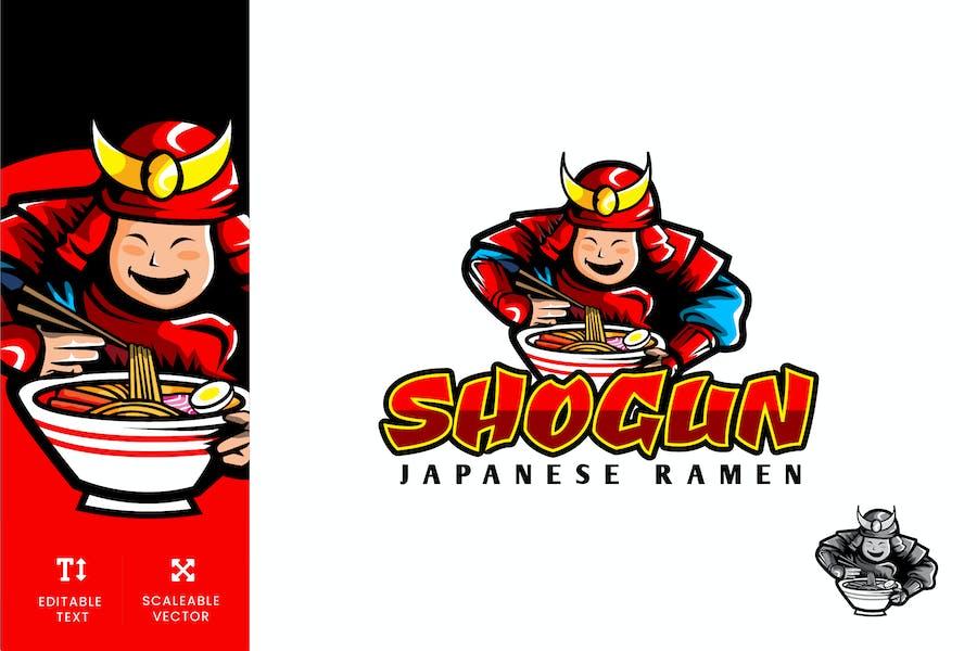 Shogun Japanese Ramen Logo Illustration Vector