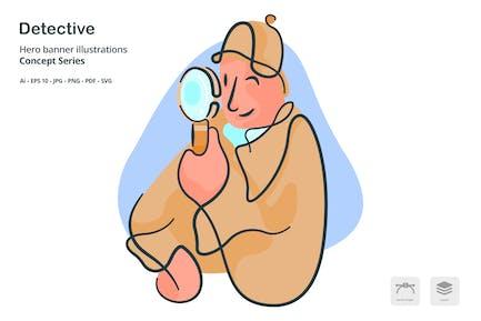 Detective Occupation Vector Illustration