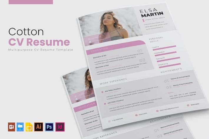 Cotton | CV & Resume