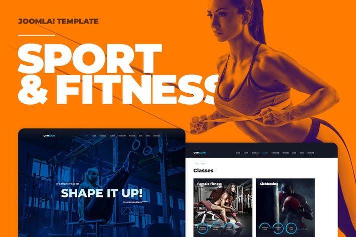Cover Image For Sports Joomla Template