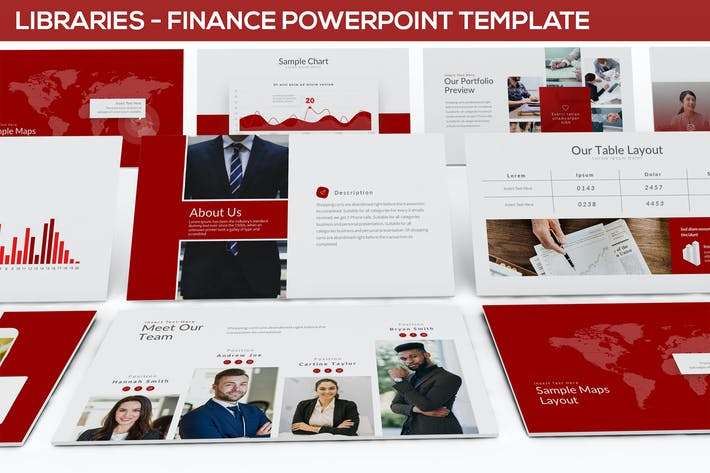 Cover Image For Libraries - Finance Powerpoint Template