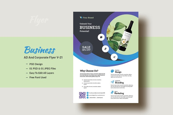 Thumbnail for Business & Corporate Ad Flyer Template V-21